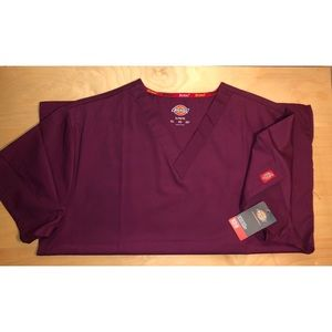Burgundy Scrub Top